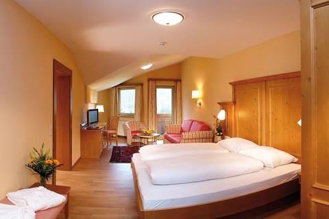 Doppelbett in der Suite Entennest