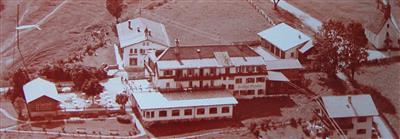 Arial view of Gasthof Pfandler in 1956