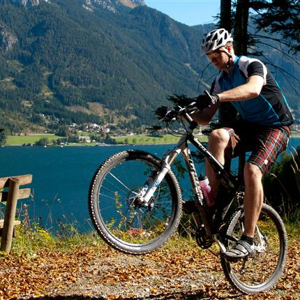 Stunts while mountain biking