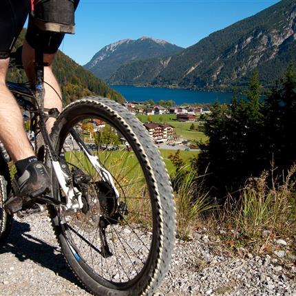 Close-up of a mountain bike