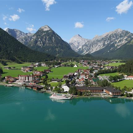Arial photo of summery Pertisau