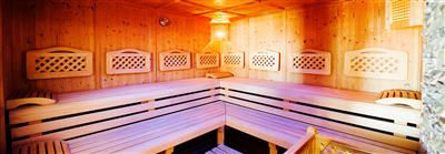 Interior view of sauna
